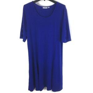 Susan Graver Liquid Knit Dress Sz XL (18/20) Plus